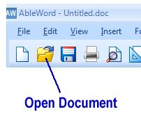 Open Word or PDF Document